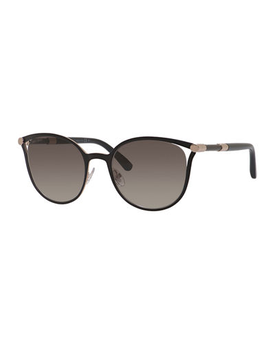 Jimmy Choo Metal Cat-Eye Sunglasses