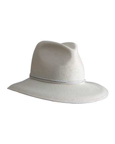 Yestadt Millinery Nomad Packable Straw Fedora Hat