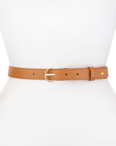 Tory Burch Embossed Leather Belt