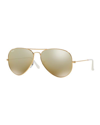 Mirrored Flash Aviator Sunglasses