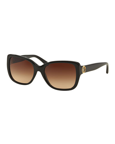 Tory Burch Gradient Squared Cat-Eye Sunglasses