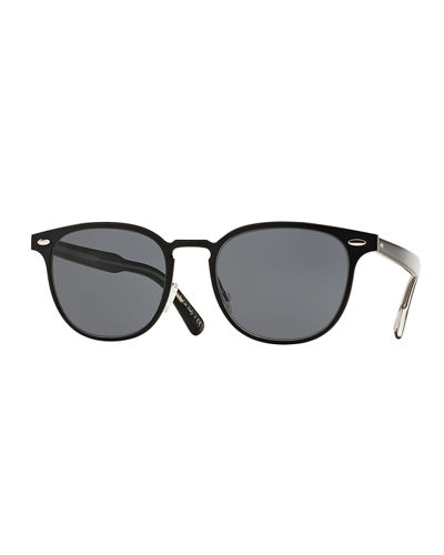 Oliver Peoples Sheldrake Square Metal Sunglasses