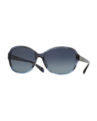 Oliver Peoples Brigid Polarized Butterfly Sunglasses