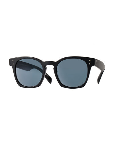 Oliver Peoples Byredo Photochromic Square Sunglasses, Matte Black