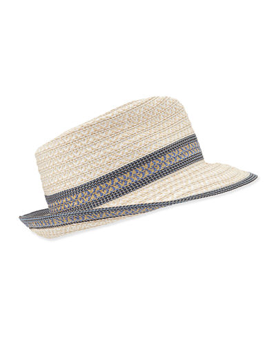 Eric Javits Big Deal Woven Fedora Hat