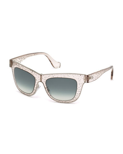 Bubbled Cat-Eye Sunglasses