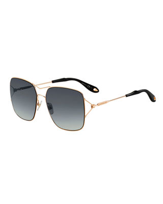 square sunglasses  Givenchy Metal Double-Wire Square Sunglasses