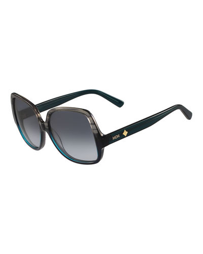 MCM Gradient Square Ombre Drop-Temple Sunglasses