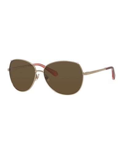 kate spade new york candida polarized metal butterfly