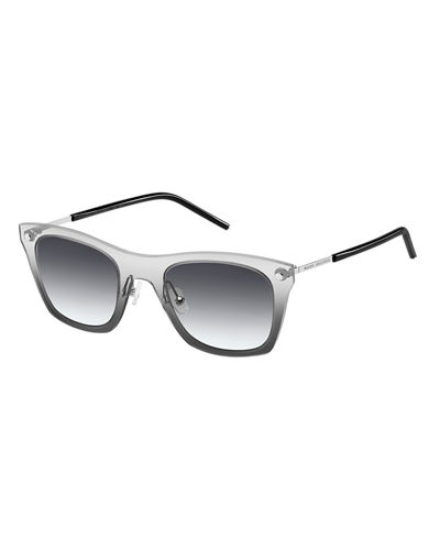 Marc Jacobs Square Mirrored Plastic/Metal Sunglasses