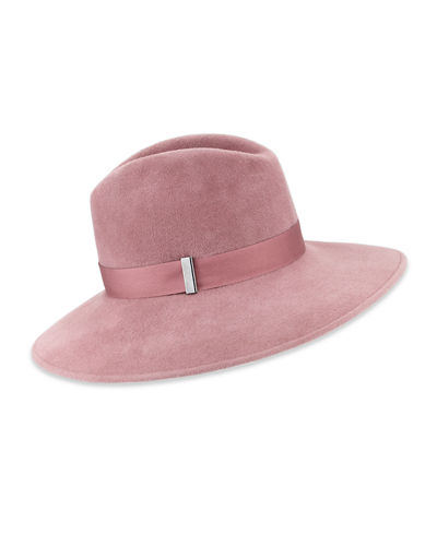 Requiem Handmade Wool Wide-Brim Fedora Hat