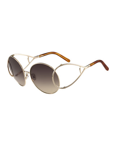 Jackson Oversized Round Metal Sunglasses