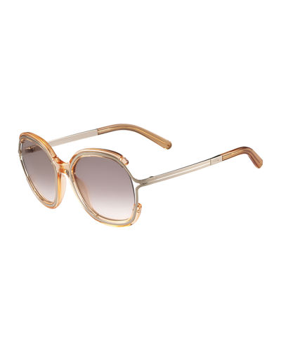 Chloe Jayme Gradient Rounded Square Sunglasses