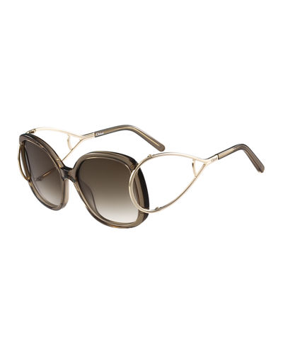 Chloe Jackson Square Oversized Sunglasses