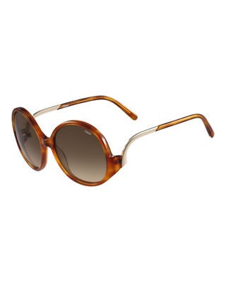 Emilia Round Oversized Sunglasses by Chloe