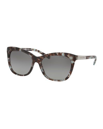 Two-Tone Square Cat-Eye Sunglasses