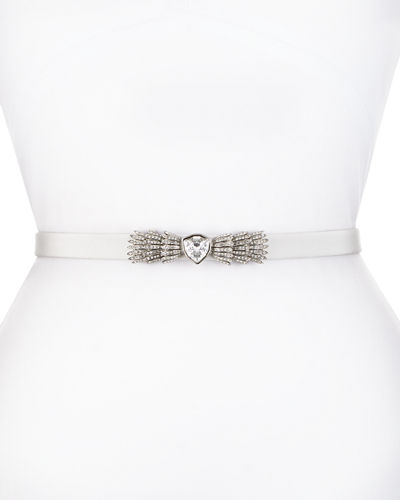 Silk Radzimir Crystal-Buckle Belt