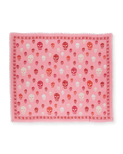 Voile Mixed-Skull Scarf,