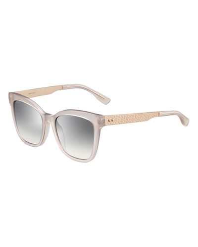 Square Metal-Temple Sunglasses