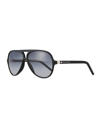 Mirrored Plastic Aviator Sunglasses
