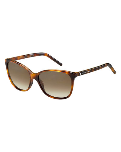 Rectangular Cat-Eye Sunglasses