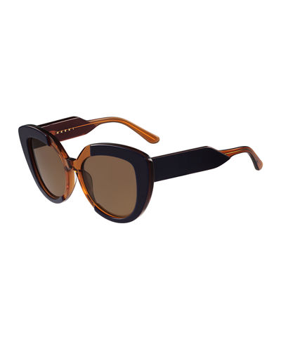 Prisma Two-Tone Cat-Eye Sunglasses