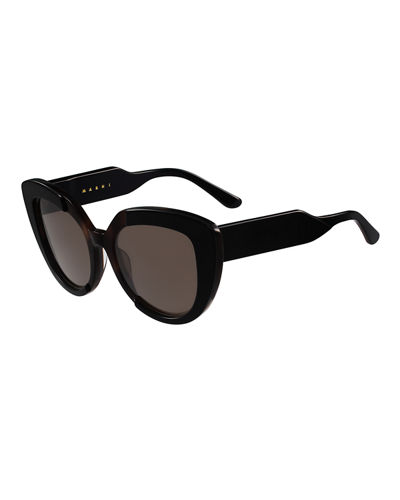 Marni Prisma Two-Tone Cat-Eye Sunglasses