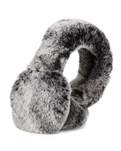 Rabbit Fur Earmuffs, Chinchilla