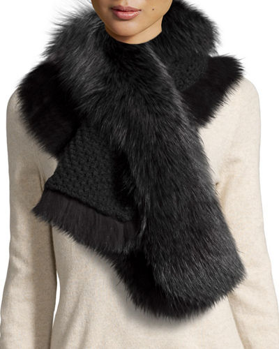 Fox Fur Pull-Through Scarf