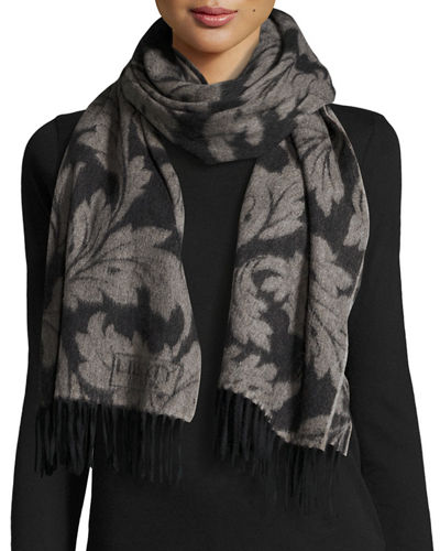Liberty London Synchrony Leaf Jacquard Scarf