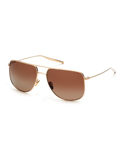 Odin Polarized Squared Aviator Sunglasses