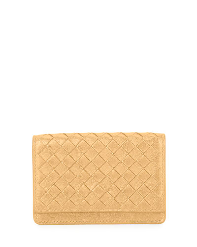 Bottega Veneta Intrecciato Woven Leather Card Case