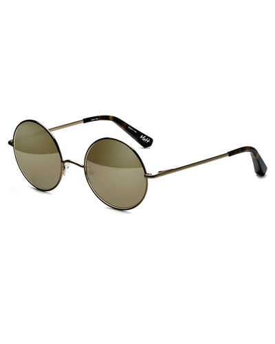 Mott Mirrored Round Sunglasses