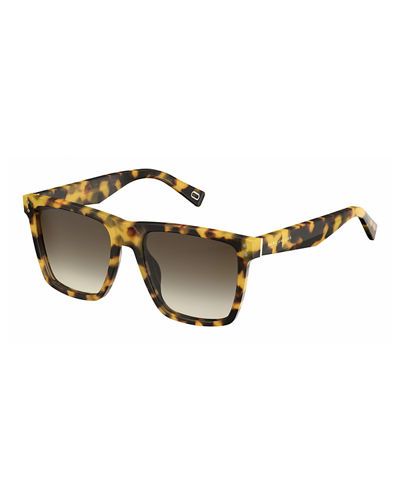 Gradient Square Flat-Top Sunglasses