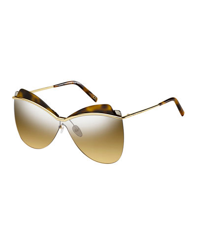 Metal Butterfly Shield Sunglasses