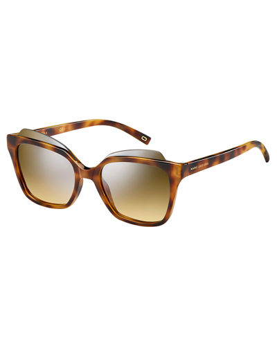Square Capped Acetate Sunglasses