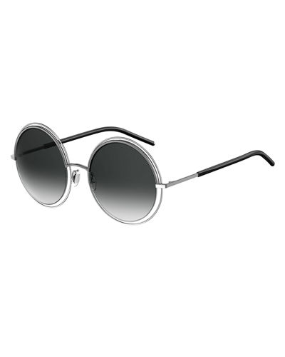Round Cutout Metal Sunglasses