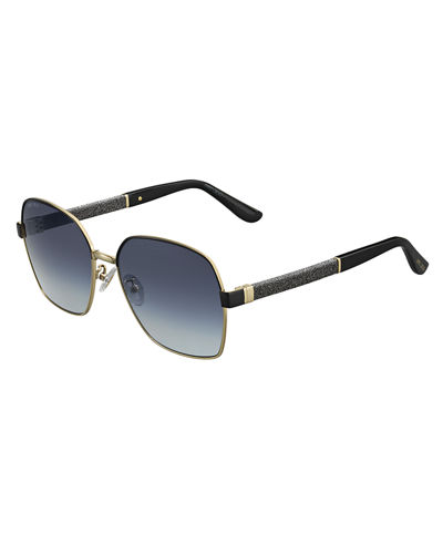 Sia Metallic Square Universal-Fit Sunglasses