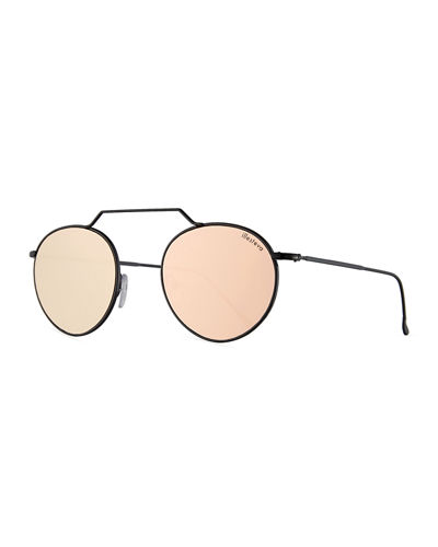Wynwood II Round Mirrored Sunglasses