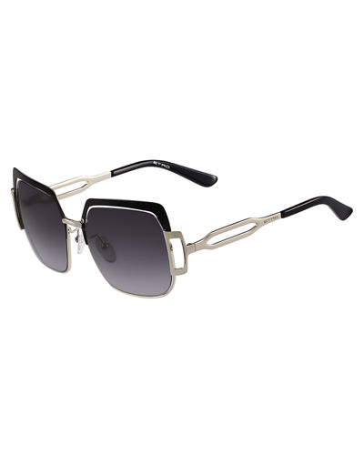 Capped Gradient Square Sunglasses