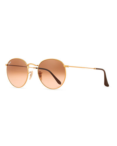 Ray-Ban Gradient Round Metal Sunglasses