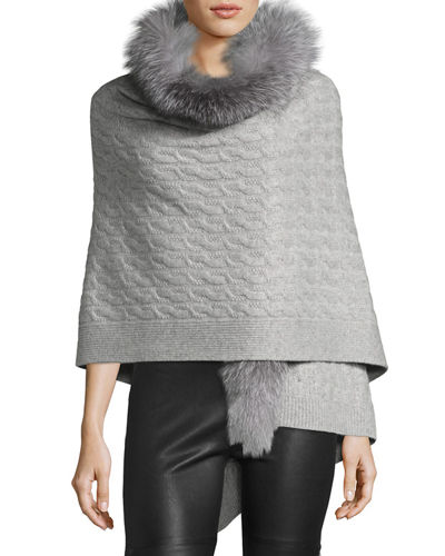 Fox Fur & Cashmere Wrap