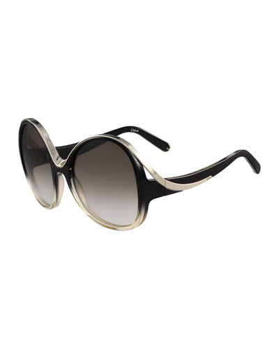Mandy Oval Acetate Sunglasses