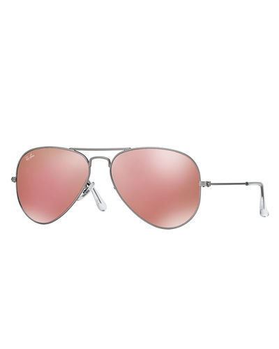 Standard Mirrored Aviator Sunglasses pink silver
