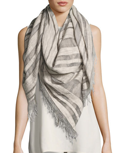 Maltinto Striped Organic Cotton Scarf