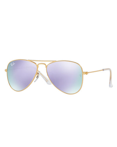 Junior Mirrored Aviator Sunglasses
