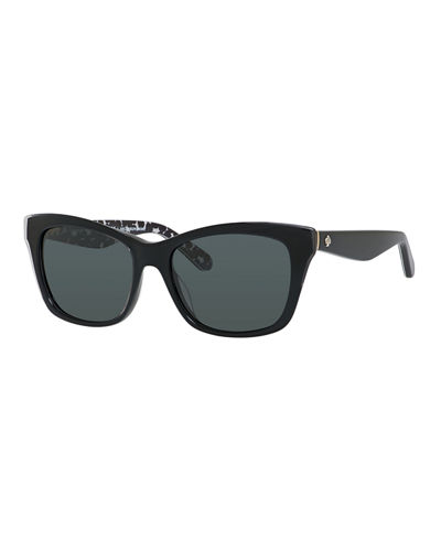 jenae plastic rectangle sunglasses