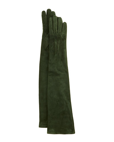 Guanti Long Suede Gloves