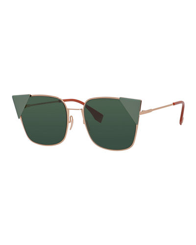 Monochromatic Square Sunglasses w/ Capped Frame Front