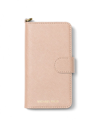 MICHAEL Michael Kors Saffiano Leather Folio iPhone 7